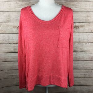 Anthropologie Pure+Good Long Sleeve V Neck Top